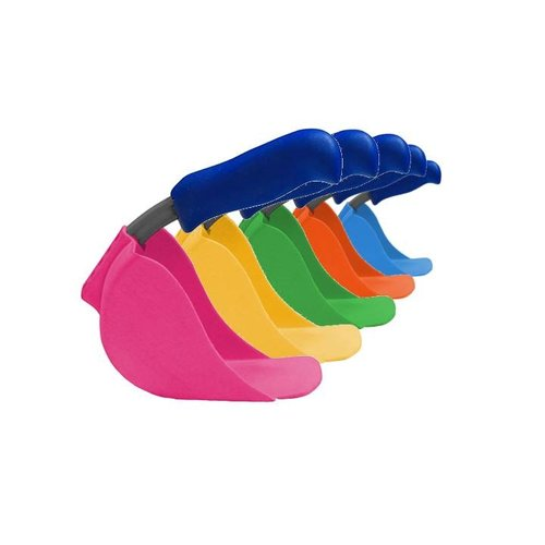 Lepale Lepale kleurrijke en ergonomische kinderschep geel