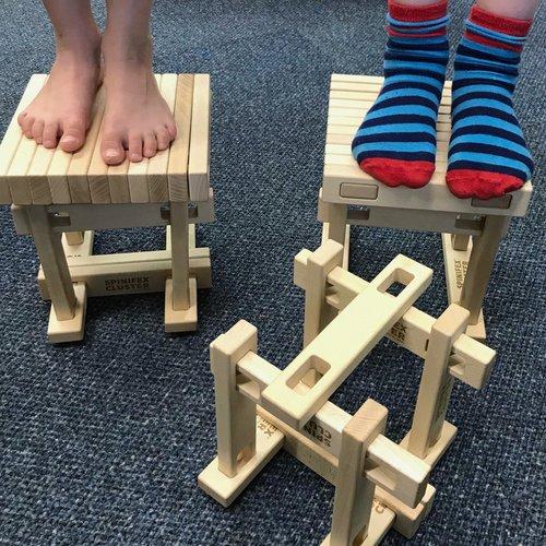Spinifex houten constructiespeelgoed