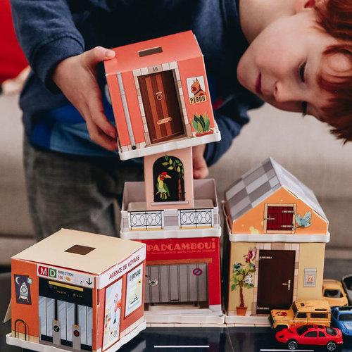 Binnen spelen met eerlijk speelgoed van OpzijnPlek