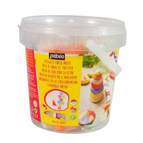 Pebeo creatief materiaal Stoepkrijtklei, maak jouw stoepkrijt in je eigen vorm!