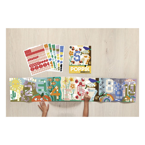 Poppik stickerkunst Poppik sticker puzzelen met nummers