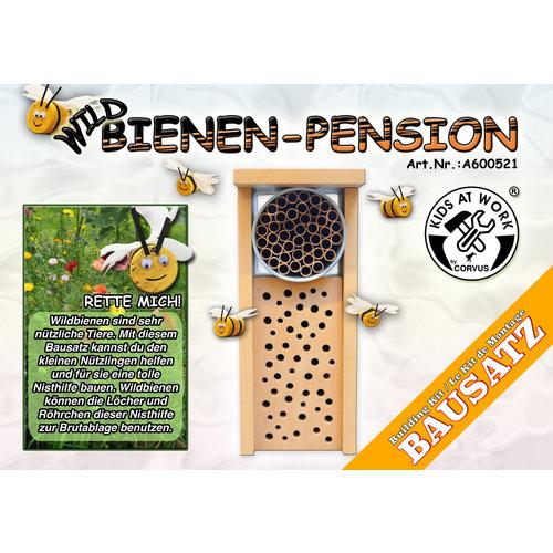Kids at work kindergereedschap Bijenhotel - maak zelf een kleine kast voor bijen