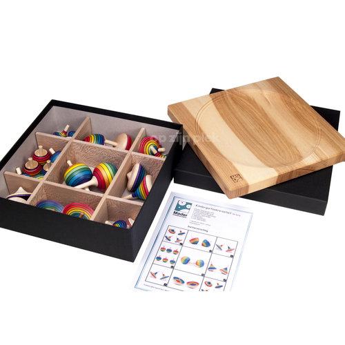 Mader houten tollen Mader educatieve set tollen - 26 stuks