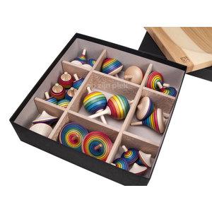 Mader houten tollen Schoolset tollen - 26 stuks