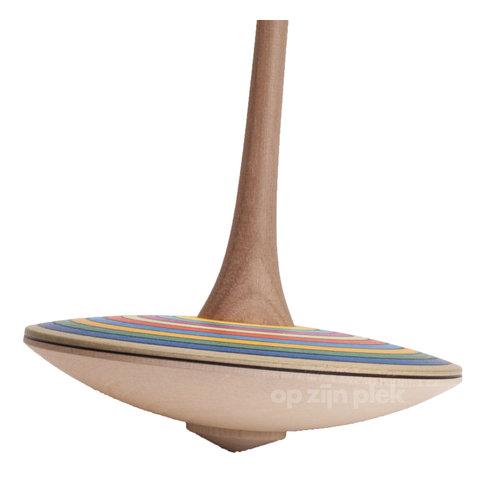 Mader houten tollen Strepen handtol of vingertol groot
