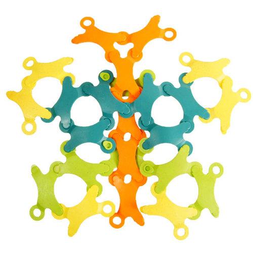 TicToys ecologisch beweegspeelgoed Binabo bioplastic constructiespeelgoed 24 chips