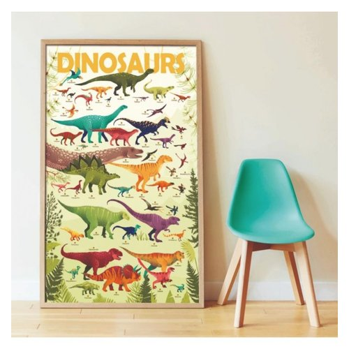 Poppik stickerkunst Poppik stickerposter dinosaurus