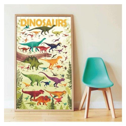 Poppik stickerkunst Poppik stickers en poster dinosaurussen