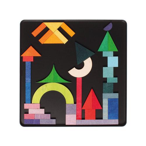 Grimms houten speelgoed Mini Magneetpuzzel geografisch
