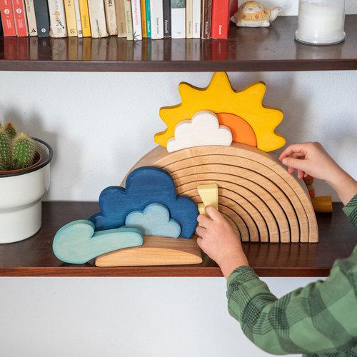 Grimms houten speelgoed Grimms bouwset weer