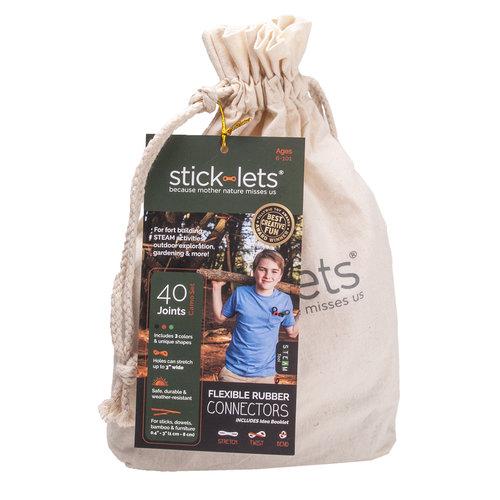 Stick-lets constructiemateriaal voor binnen en buiten Stick-lets Camouflage schoolset - 40 stick-lets