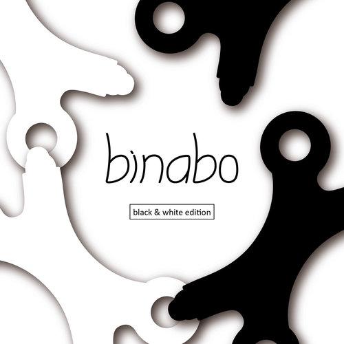 TicToys ecologisch beweegspeelgoed TicToys Binabo constructiespeelgoed 60 stuks zwart en wit