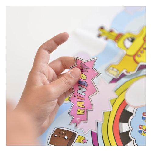 Poppik stickerkunst Poppik poster Engels leren met stickers