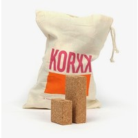 KORXX Cuboid S - 19 kurk blokken en opbergzak