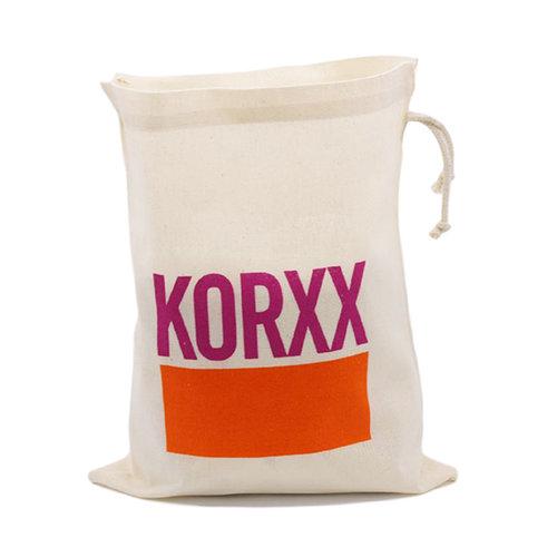 KORXX kurk blokken Kuller Starter - 20 ovalen kurk blokken met katoenen zak