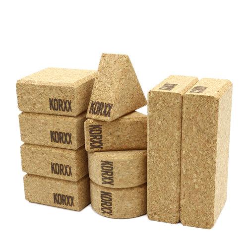KORXX kurk blokken Baby - 10 kurk blokken naturel met katoenen zak