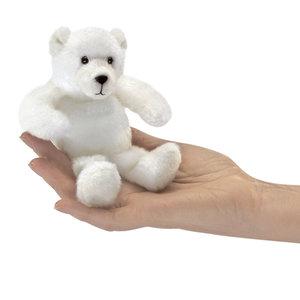 Folkmanis handpoppen en poppenkastpoppen Folkmanis vingerpop ijsbeer