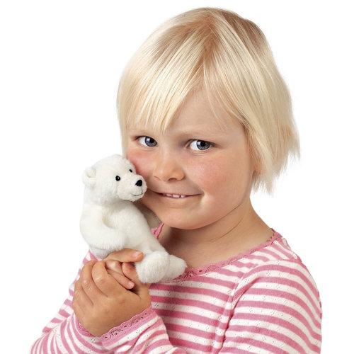 Folkmanis handpoppen en poppenkastpoppen Folkmanis vingerpopje ijsbeer