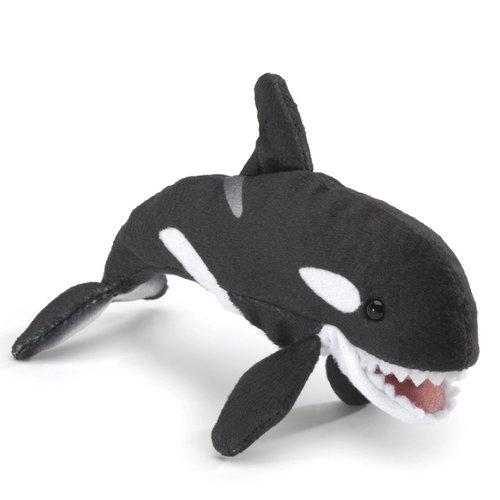 Folkmanis handpoppen en poppenkastpoppen Folkmanis vingerpop mini orca