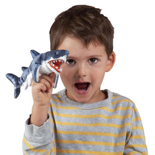 Folkmanis handpoppen en poppenkastpoppen Folkmanis vingerpopje Haai
