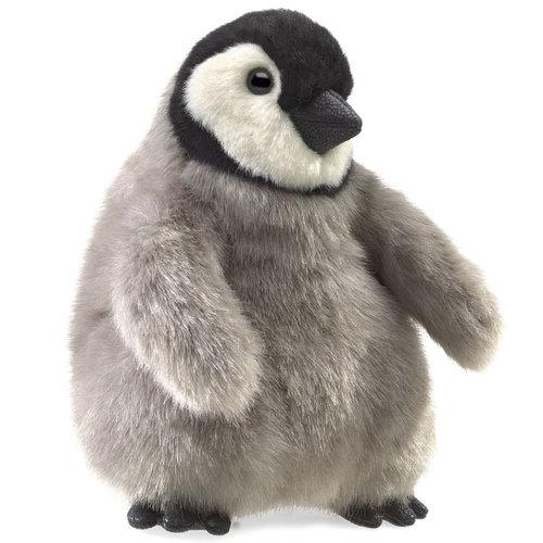 Folkmanis handpoppen en poppenkastpoppen Handpop Baby Keizers pinguin