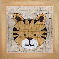 Mosaicbox - Mozaiek met lijst Tijger