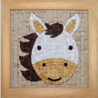 Mosaicbox - Mozaiek met lijst Paard