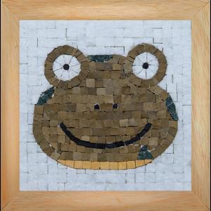 Neptune Mosaic Mosaicbox - Mozaiek met lijst Kikker
