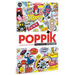 Poppik Poppik stickerposter Engels