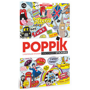 Poppik stickerkunst Poppik stickerposter Engels