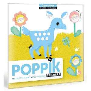 Poppik stickerkunst Poppik Mijn sticker kaarten - Bos