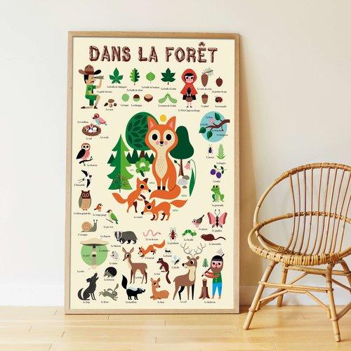Poppik stickerkunst Poppik sticker poster In the Forest
