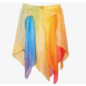 Sarah's Silks speelzijde Sarah's silks zijden rok regenboog