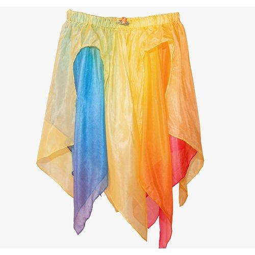 Sarah's Silk speelzijde Sarah's Silks zijden rok geel regenboog