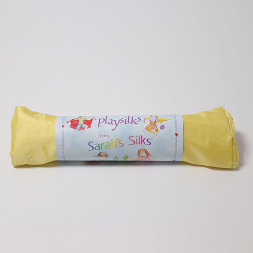 Sarah's Silk speelzijde Sarah's Silks gele zijde
