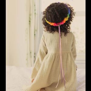 Sarah's Silks speelzijde Sarah's silks hoofdkrans regenboog