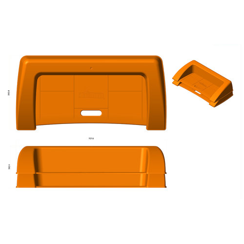 Kerby sportspeelgoed Kerby stoeprand oranje voor stoepranden