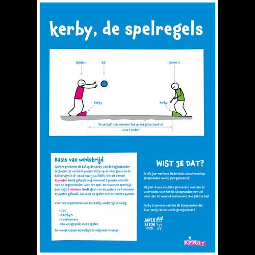 Kerby sportspeelgoed Kerby stoeprand blauw voor stoepranden