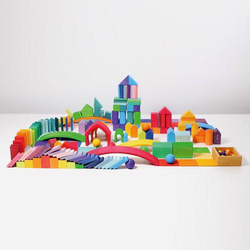 Grimms houten speelgoed Domino, rally bouwblokken