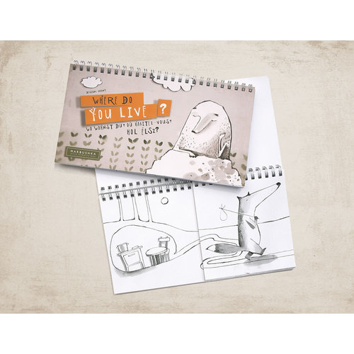 Marbushka fairtrade spellen Kleurboek Waar woon jij?
