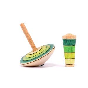 Mader houten tollen Mader Mijn eerste tol groentinten