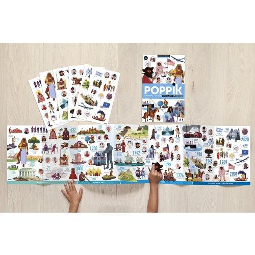 Poppik Stickerposter tijdlijn van de wereldgeschiedenis