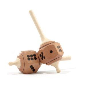 Mader houten tollen Dobbelsteentol