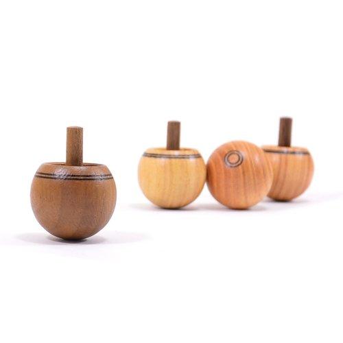 Mader houten tollen Omdraaitol hout natuur