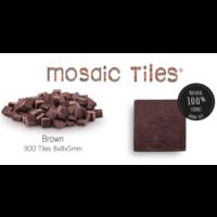 Pot met 900 bruine mozaieksteentjes