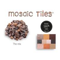 Pot met 750 gekleurde mozaieksteentjes