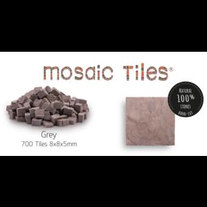 Neptune Mosaic Pot met 700 grijze mozaieksteentjes