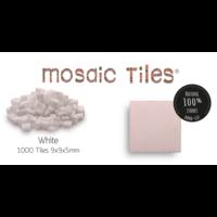 Pot met 1000 witte mozaieksteentjes