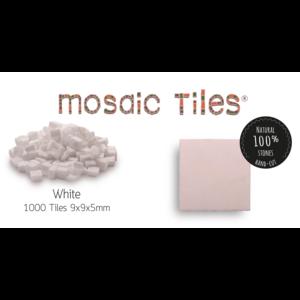 Neptune Mosaic Pot met 1000 witte mozaieksteentjes