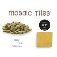 Pot met 1100 gele mozaieksteentjes